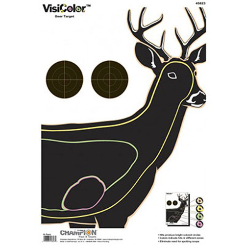 Champion Target VisiColor Deer - 10 Pack