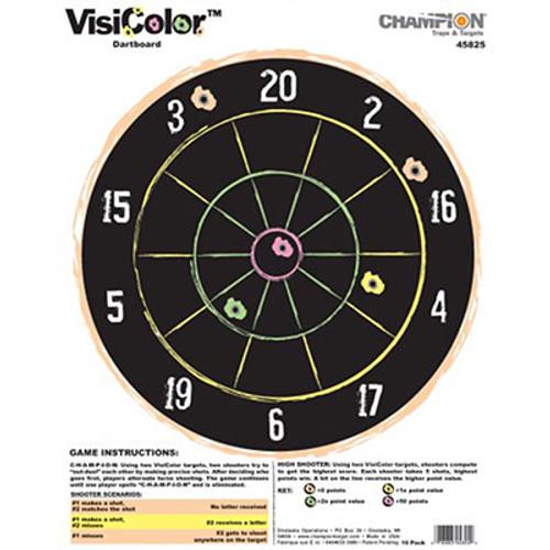 Champion Target VisiColor Dartboard - 10 Pack