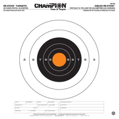 Champion Target 25 Yard Pistol Slowfire Re-Stick Target