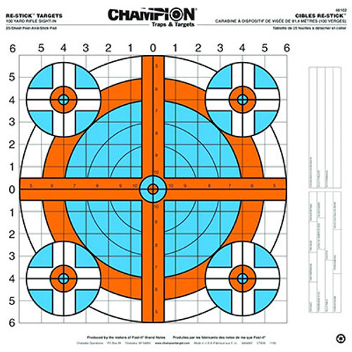 Champion Target Re-Stick 100-Yard Rifle Sight-In