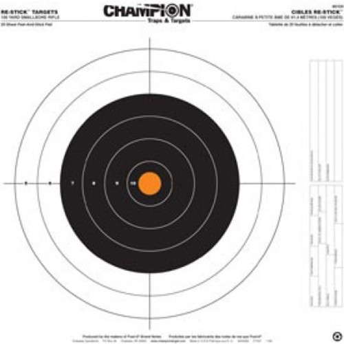 Champion Target 100 Yard Re-Stick Small Bore Rifle Target