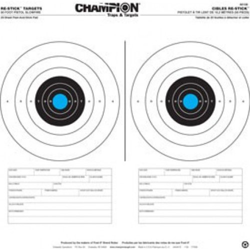 Champion Target 50 Foot Slowfire Re-Stick Pistol Target