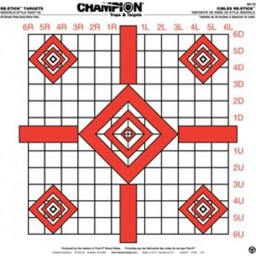 Champion Target Re-Stick Redfield-Style Precision Sight-In Target