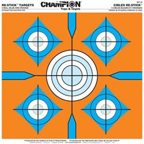 Champion Target Re-Stick 5-Bull Blue and Orange