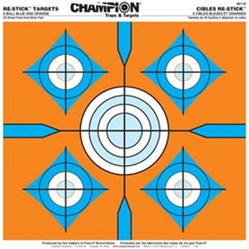 Champion Target Re-Stick 5-Bull Blue and Orange