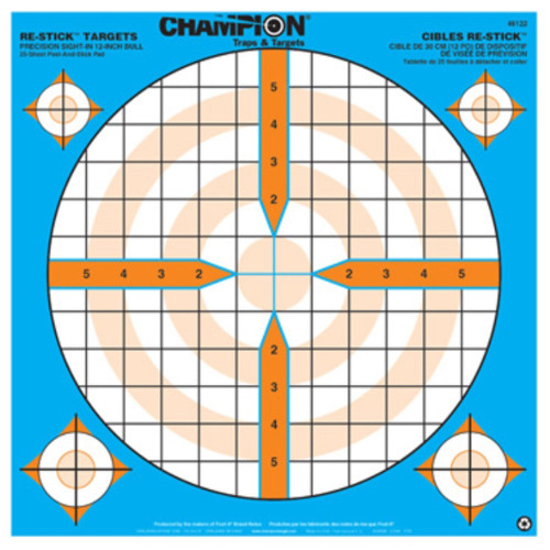 Champion Target Re-Stick Precision Sight-In Bull Target