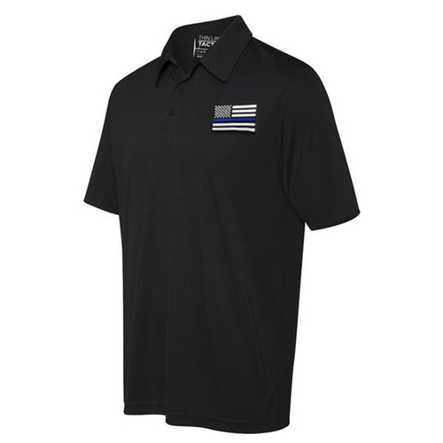 Thin Blue Line Embroidered Polo