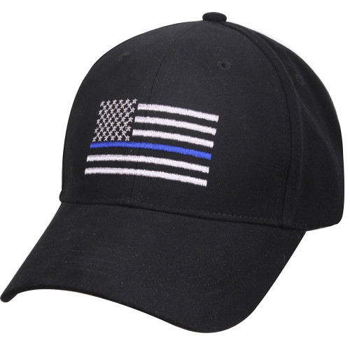Rothco Deluxe Thin Blue Line Flag Cap - Black