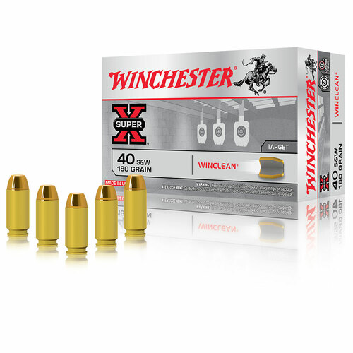 Winchester .40 S&W 180gr Brass Enclosed Winclean