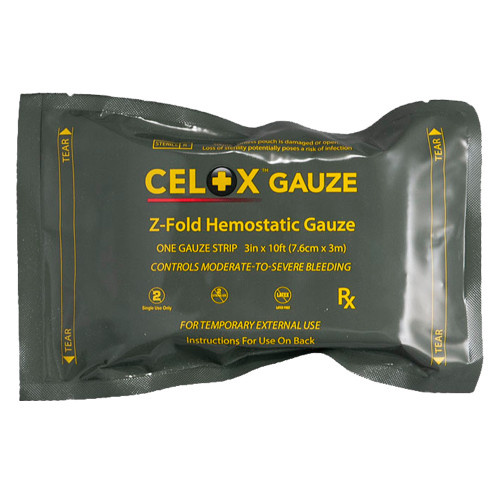 Celox Z-Fold 5' Hemostatic Gauze