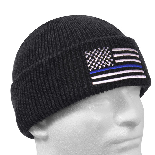 Rothco Deluxe Thin Blue Line Embroidered Watch Cap