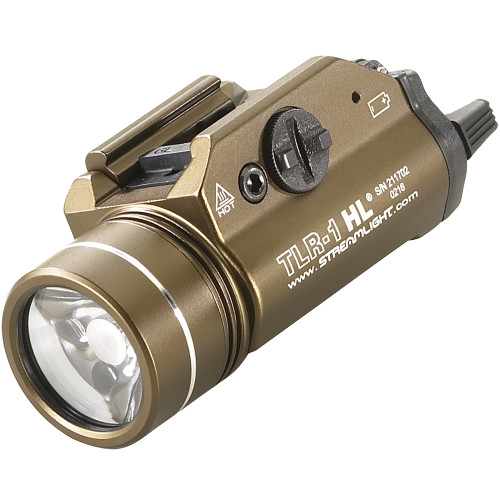 Streamlight TLR-1 HL Weapon Light, Flat Dark Earth Brown