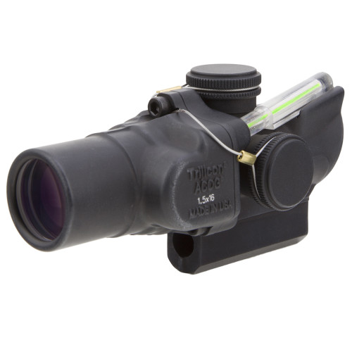 Trijicon 1.5x16S Compact ACOG® Scope, Dual Illuminated Green Ring & 2 MOA Center Dot Reticle