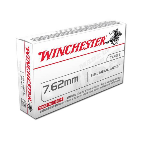 Winchester USA 7.62x51mm NATO 147 Grain Full Metal Jacket - Q3130