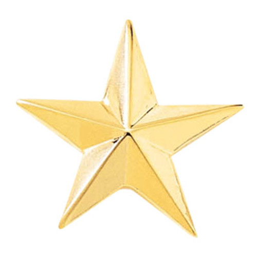 "Blackinton  1"" Smooth Gold Star"