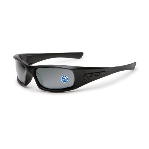 ESS 5B Black Frame Polarized Sunglasses - Mirrored Gray Lenses