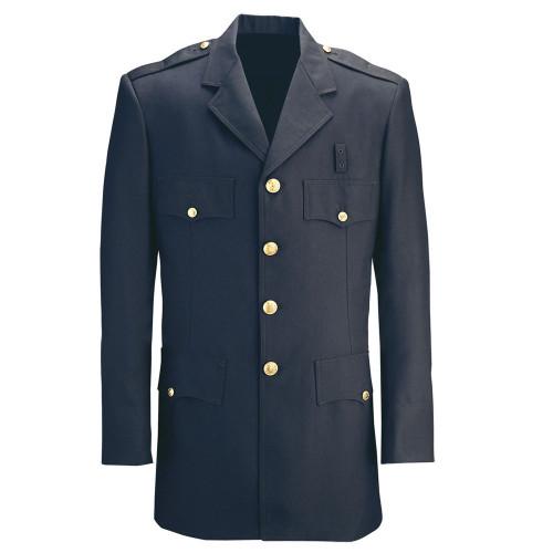 Fechheimer Single-Breasted Polyester Dress Coat - UPPD