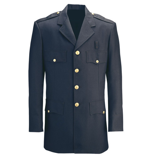 Fechheimer Single-Breasted Polyester Dress Coat - UPPD