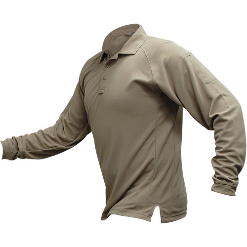 Vertx Men's Coldblack Long Sleeve Polo