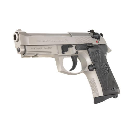Beretta 92FS Type M9A1 Pistol - Standard Sights - Inox Stainless Steel/Black Polymer