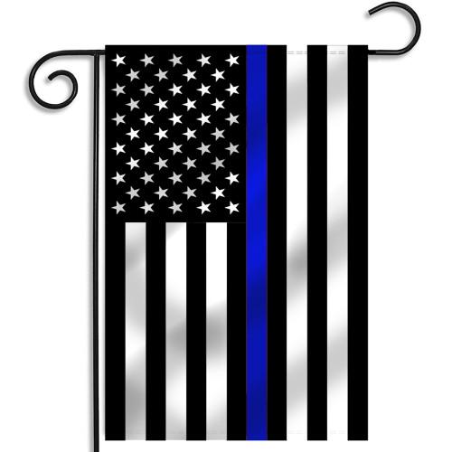 Thin Blue Line American Flag, 12.5x18 Inches