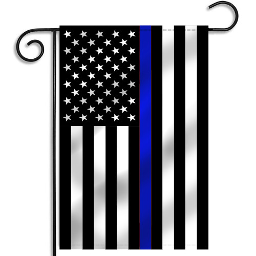 Thin Blue Line American Flag, 12.5x18 Inches