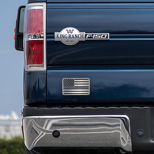 Thin Blue Line Car Emblem