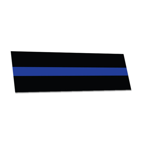 Thin Blue Line Bumper Sticker, 3.5x11 Inches