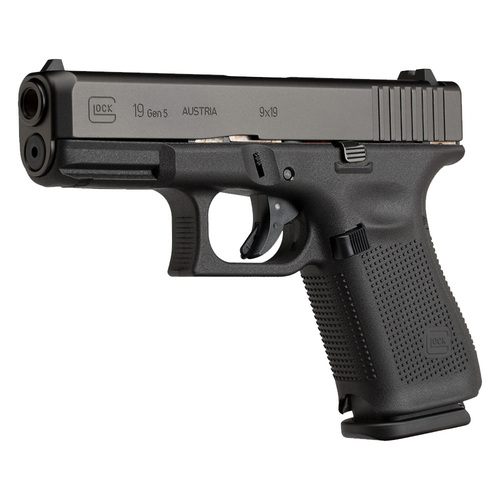 Glock 19 Gen5 Handgun with Fixed Sights - 10 Round - PA1950200
