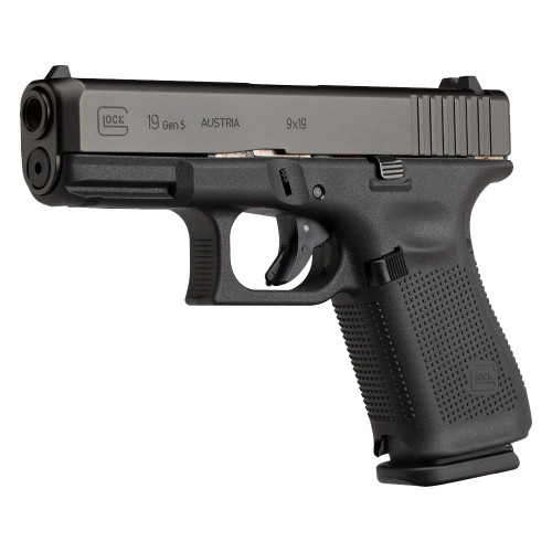 Glock 19 Gen5 Handgun with Fixed Sights - 10 Round - PA1950200