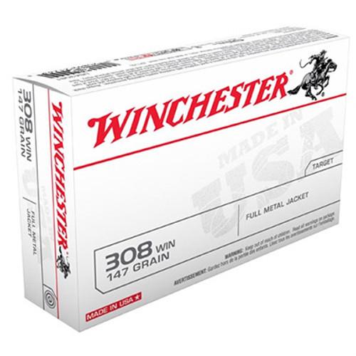 Winchester 308 Winchester 147GR FMJ BT Box of 20 - USA3081