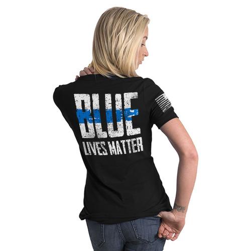 Nine Line Blue Live's Matter Women's T-Shirt - 06WRTSBLM2