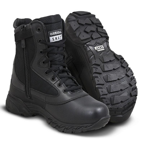 "Original Swat Chase 9"" Side-Zip Men's Black Boot - 131201"