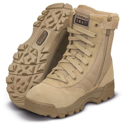 "Original Swat Classic 9"" Side-Zip Men's Tan Boot - 115202"