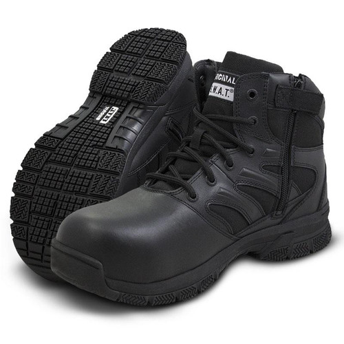 "Original Swat Force 6"" Side Zip Men's Black Boot - 153101"