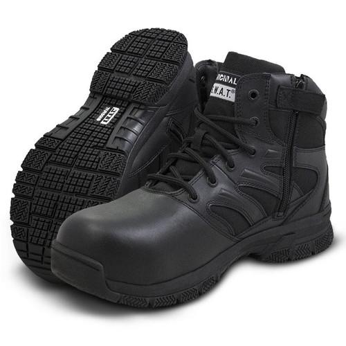 """Original Swat Force 6"""" Side Zip Men's Black Boot - 153101"""