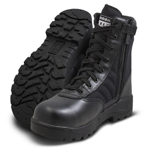 "Original Swat Classic 9"" Safety Plus Men's Side-Zip Black Boot - 116001"