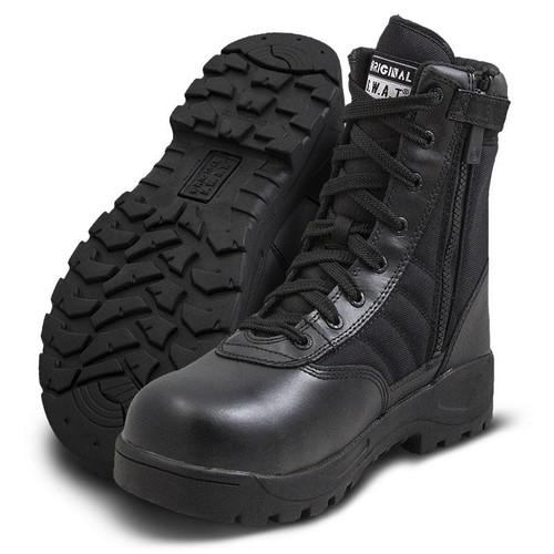 "Original Swat Classic 9"" Safety Plus Men's Side-Zip Black Boot - 116001"