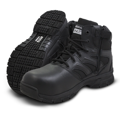 "Original Swat Force 6"" Safety Side-Zip Men's Black Boot - 154101"
