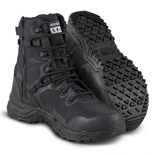 "Original Swat Alpha Fury 8"" Size-Zip Men's Black Boot - 177501"
