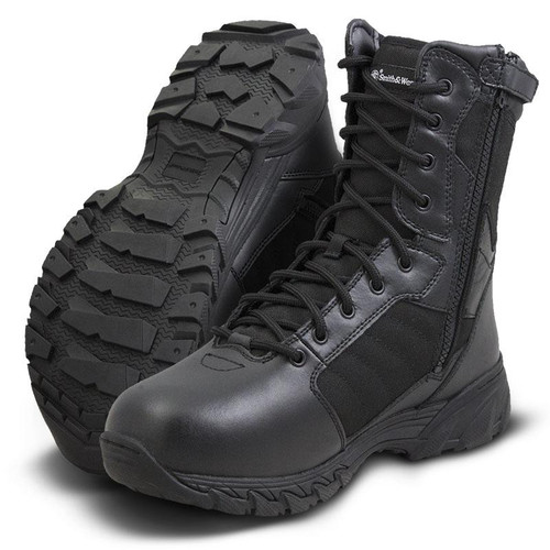 "Smith & Wesson Breach 2.0 8"" Side-Zip Men's Black Boot - 810201"