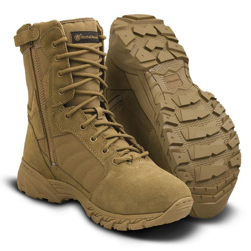 """Smith & Wesson Breach 2.0 8"""" Side-Zip Men's Coyote Boot - 810203"""