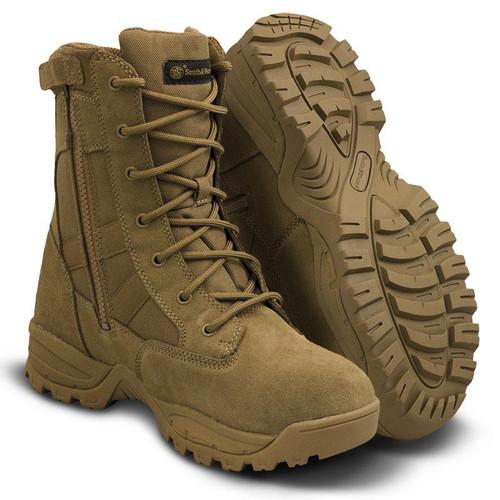 "Smith & Wesson Breach 2.0 Waterproof 8"" Side-Zip Men's Coyote Boot - 810403"