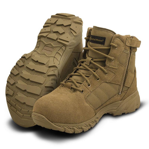 """Smith & Wesson Breach 2.0 6"""" Side-Zip Men's Coyote Boot - 810303"""