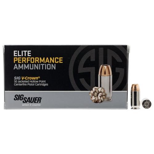 Sig Sauer E9MMA3-LE-50 Elite Performance 9mm Luger 147 Grain V-Crown JHP Ammo