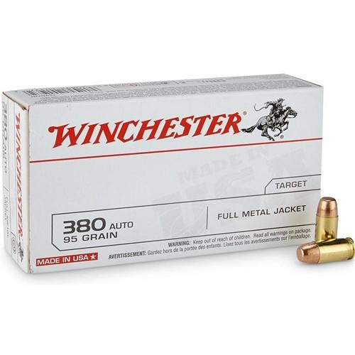 Winchester USA Q4206 380 ACP AUTO 95 Grain FMJ Ammo