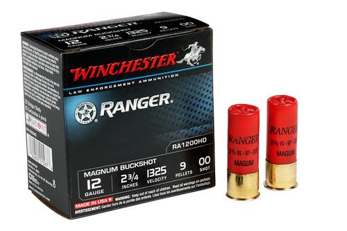 Winchester RA1200HD 12 GA 2 3/4 9 PEL. Ranger 00 Buck