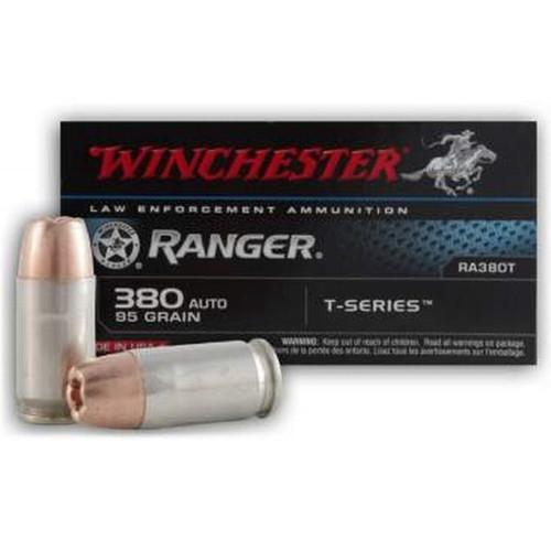 Winchester RA380T Ranger T-Series 380 Auto 95gr JHP Ammo