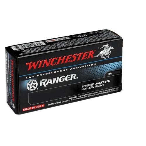 Winchester RA38B Ranger 38 Special Ammo 130 Grain +P Bonded JHP Ammo