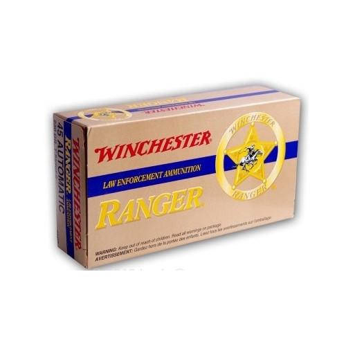Winchester RA45TP Ranger 45 ACP AUTO 230 Grain +P T-Series Bonded JHP Ammo